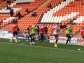 Players warming up Blackpool 2014/15