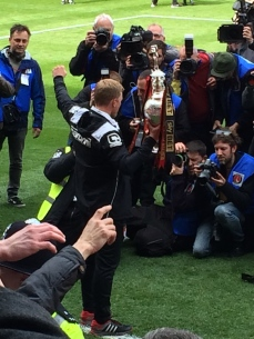 Eddie with the trophy