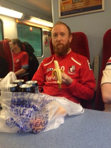 Phil on the way to Charlton. What a great photo!