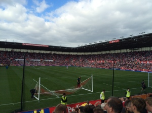 The Britannia Stadium - quieter than we thought and no Delilah rendition :-(